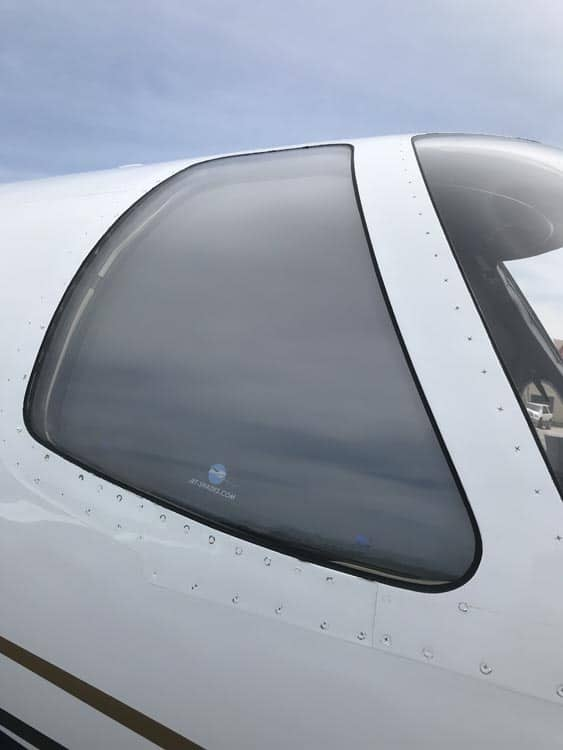 Jet Shades for Citation Jet - Exterior co-pilot side