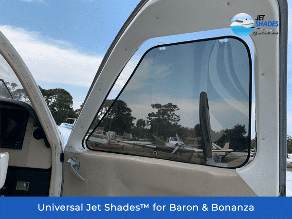 Universal Jet Shades for Baron & Bonanza - Block harmful UV, heat and glare while flying!